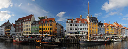 Copenhagen (Nyhavh) in summer 2010 Royalty Free Stock Images