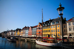 copenhagen nyhavn Royaltyfri Foto