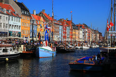 Copenhagen - Nyhavn. Colorful Nyhavn, the museum harbour in the heart of Copenhagen Royalty Free Stock Images