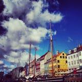 copenhagen nyhavn Fotografia Royalty Free