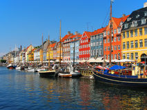 Copenhagen, Nyhavn. Nyhavn  - the most polular historical place in Copenhagen, Denmark Royalty Free Stock Photo