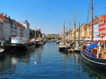 Copenhagen, Nyhavn Royalty Free Stock Photos