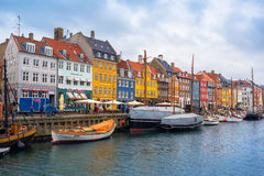 Copenhagen Nyhavn Canal and District Stock Photo