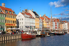 Copenhagen (Nyhavn district) in a sunny summer day Royalty Free Stock Images
