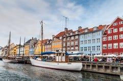 Copenhagen Nyhavn harbour Royalty Free Stock Photos