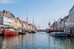 Copenhagen Nyhavn harbour Stock Image