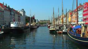 Copenhagen, Nyhavn stock video