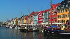Copenhagen, Nyhavn stock video footage