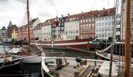 Copenhagen, Nyhavn Stock Images