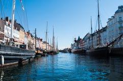 Copenhagen Nyhavn. Touristic attraction point, the harbour (Nyhavn) in Copenhagen Royalty Free Stock Images