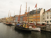 Copenhagen old port Nyhavn Royalty Free Stock Images