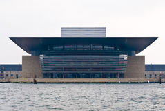 Copenhagen Opera House. (Operaen), located on the island of Holmen in central Copenhagen stock image
