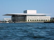 Copenhagen Opera House, Denmark. The Copenhagen Opera House is the national opera house of Denmark, and among the most modern opera houses in the world. It is Royalty Free Stock Images