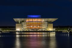Copenhagen opera house. Overlooking Nyhavn harbour Stock Images