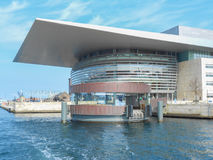 Copenhagen Operaen. COPENHAGEN, DENMARK - MARCH 30, 2014: The Copenhagen Opera House aka Operaen is the national opera house of Denmark, designed by Henning Stock Photography