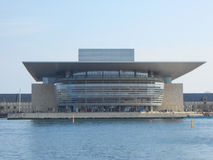 Copenhagen Operaen. COPENHAGEN, DENMARK - MARCH 30, 2014: The Copenhagen Opera House aka Operaen is the national opera house of Denmark, designed by Henning Royalty Free Stock Photos