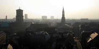copenhagen panorama arkivfoto