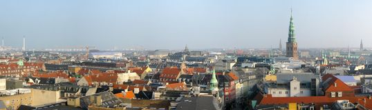Copenhagen panorama Stock Photos