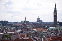 Copenhagen. Panorama of Copenhagen in Denmark Stock Images