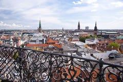 Copenhagen. Panorama of Copenhagen in Denmark Royalty Free Stock Photo