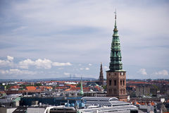 Copenhagen. Panorama of Copenhagen in Denmark Stock Image
