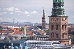 Copenhagen. Panorama of Copenhagen in Denmark Royalty Free Stock Images