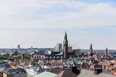 Copenhagen Panoramic View Stock Image