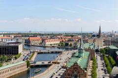 Copenhagen Panoramic View Royalty Free Stock Photo