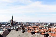 Copenhagen Panoramic View Royalty Free Stock Images