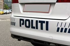 copenhagen policja Obraz Royalty Free