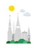 City poster: Copenhagen Royalty Free Stock Photos