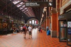 Copenhagen railway station, Denmark Royalty Free Stock Photo