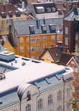 Copenhagen rooftops. A view over the rooftops of Copenhagen from the top of the Rundetaarn Stock Photography