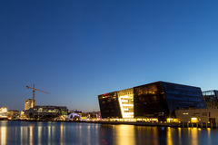 Copenhagen Royal Library by night Stock Image