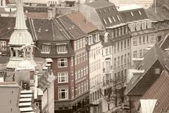Copenhagen in sepia Stock Photos
