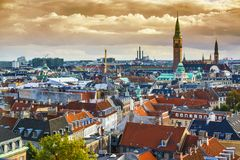 Copenhagen Skyline Royalty Free Stock Image