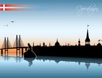 Copenhagen skyline vector illustration
