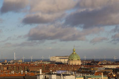 Copenhagen Skyline View from the Round Tower royalty free stock photos