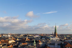 Copenhagen Skyline View from the Round Tower royalty free stock images