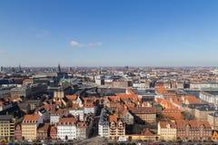 Copenhagen Skyline View from Vor Frelsers Kirke Stock Photography
