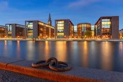copenhagen Stadsinvallning på solnedgången arkivfoton