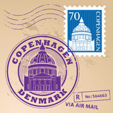 Copenhagen stamp set Stock Image