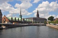 Copenhagen, stock exchange and christiansborg Royalty Free Stock Photos