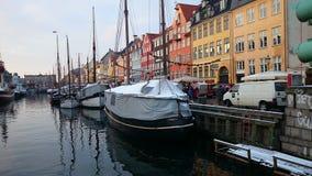 Copenhagen. Taking a stroll along the riverside in Copenhagen. Best place to be in summer Royalty Free Stock Images