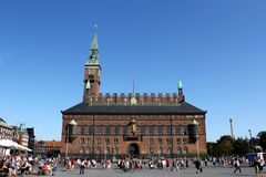 Copenhagen Town Hall Royalty Free Stock Photos