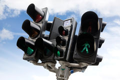 Copenhagen Traffic Light stock photography