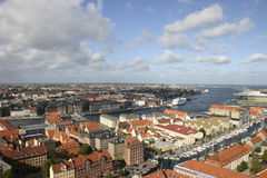 Copenhagen view. From height of the bird's flight, Denmark Royalty Free Stock Photos