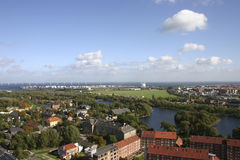 Copenhagen view. From height of the bird's flight, Denmark Stock Photo