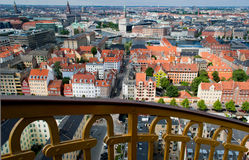Copenhagen view. Copenhagen city view with typical red roofs Stock Image