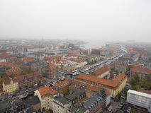 Copenhagen view from the Church of Our Saviour Royalty Free Stock Photos